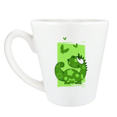 Чашка Латте летний дракон