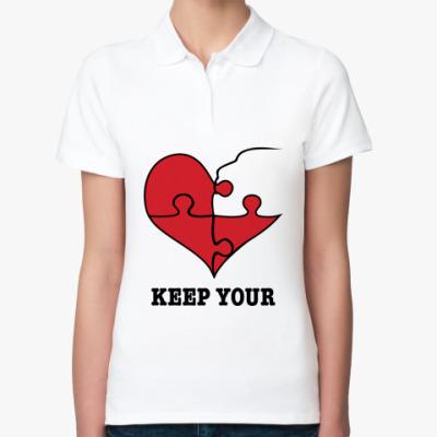Женская рубашка поло Парная футболка для влюблённых