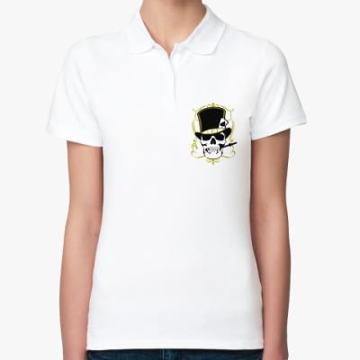 Женская рубашка поло Poker череп