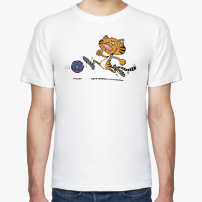 Футболка Тигр-футболист