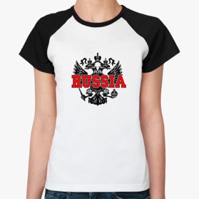 Женская футболка реглан Russia