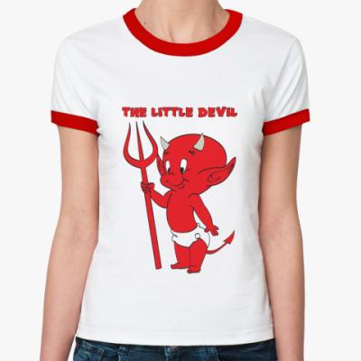 Женская футболка Ringer-T Маленький дьявол