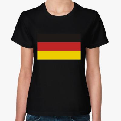 Женская футболка Флаг Германии