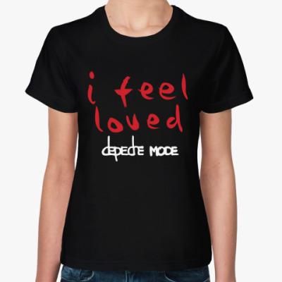 Женская футболка I feel loved
