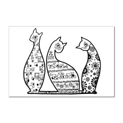 Наклейка (стикер)  Кошечки