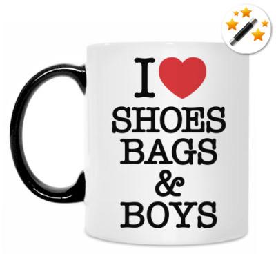 Кружка-хамелеон I love shoes, bags & boys