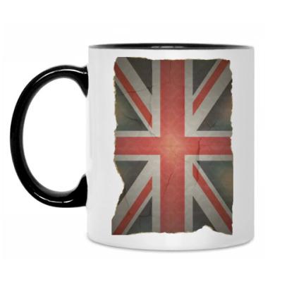 Кружка Флаг Англии на старом фото
