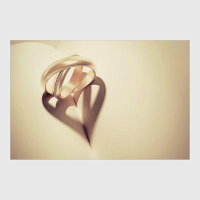 Постер Сердце из колец