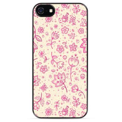 Чехол для iPhone  Розовый ситец