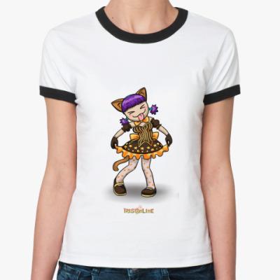 Женская футболка Ringer-T Бяяя!