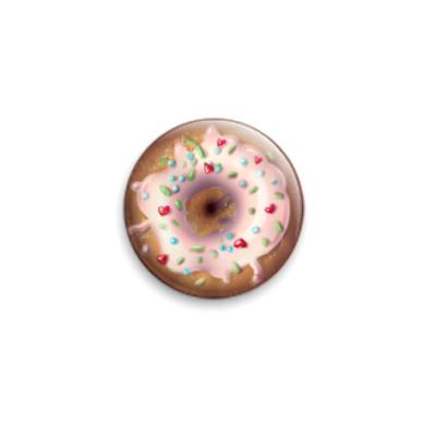 Значок 25мм Пончик