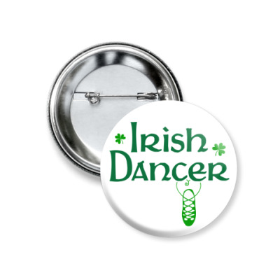 Значок 37мм Irish Dancer