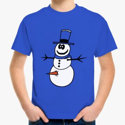 Детская футболка Неправильный  снеговик