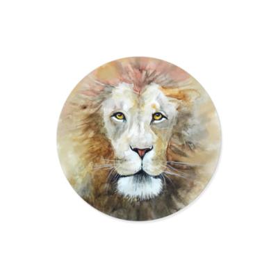 Виниловые наклейки Лев, акварель