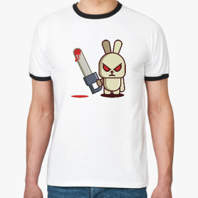 Футболка Ringer-T Злой кролик с пилой