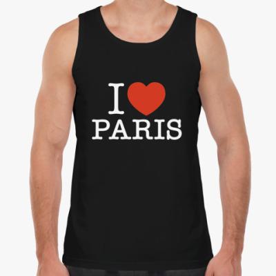 Майка I love Paris
