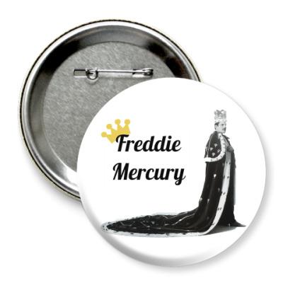 Значок 75мм Фредди Меркьюри