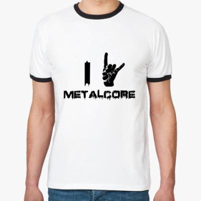 Футболка Ringer-T Metalcore