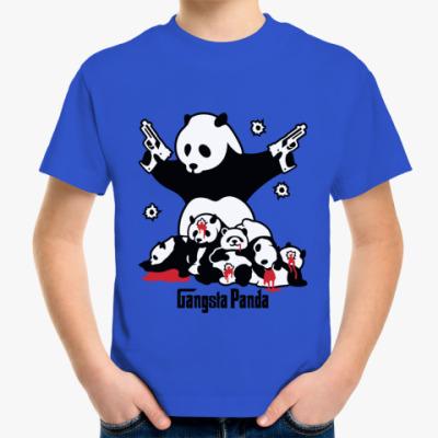Детская футболка  Gangsta panda