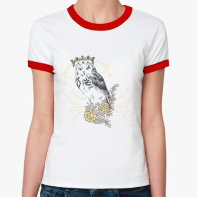 Женская футболка Ringer-T KingOwl