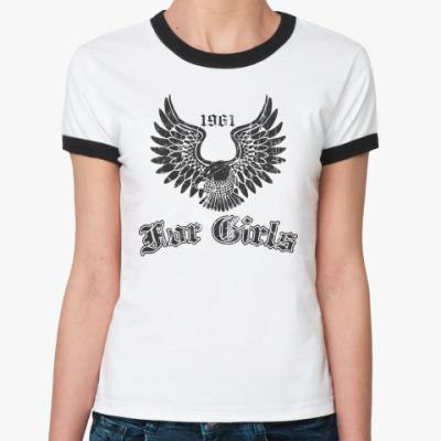 Женская футболка Ringer-T For Girls