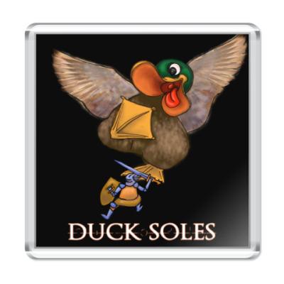 Магнит Duck Soles (черный фон)