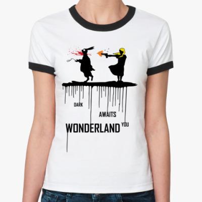 Женская футболка Ringer-T Dark Wonderland