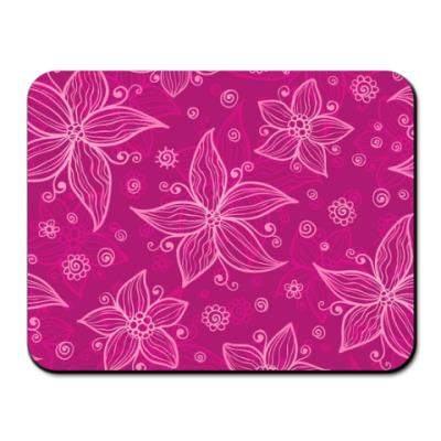 Коврик для мыши  Розовые цветы