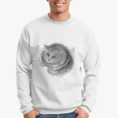 Свитшот Серый кот, кошка