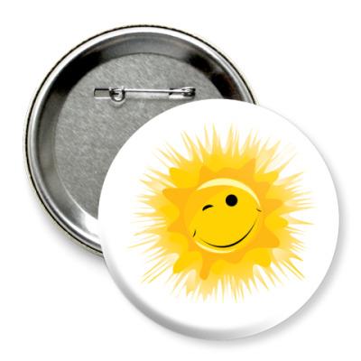 Значок 75мм Солнце