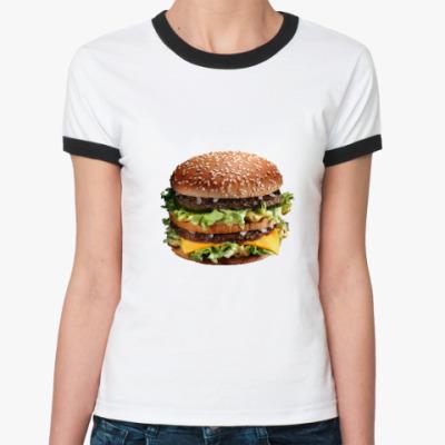 Женская футболка Ringer-T Бургер