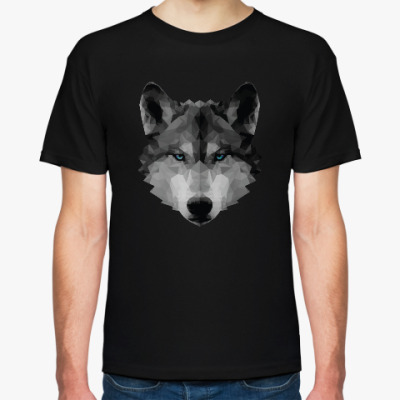 Футболка Полигональный волк