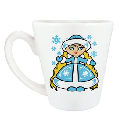 Чашка Латте Снегурочка