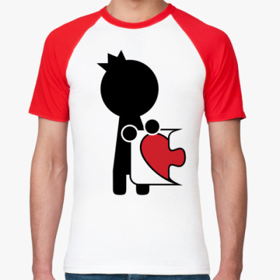 Футболка реглан Парная футболка для влюблённых