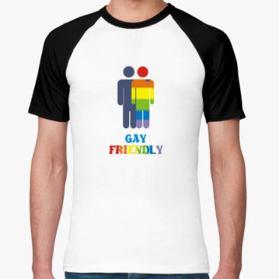 Футболка реглан  'Gay Friendly'