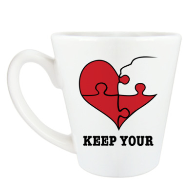 Чашка Латте Парный дизайн для влюблённых