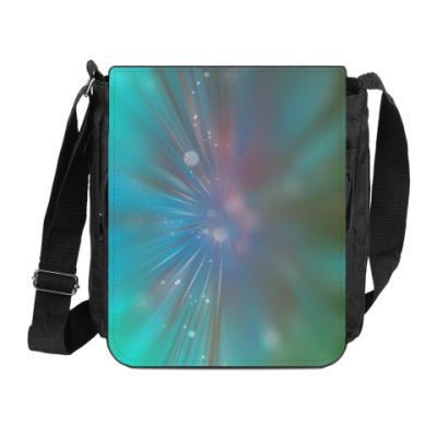Сумка на плечо (мини-планшет) звездный взрыв, абстракция