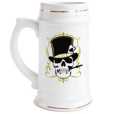 Пивная кружка Poker череп