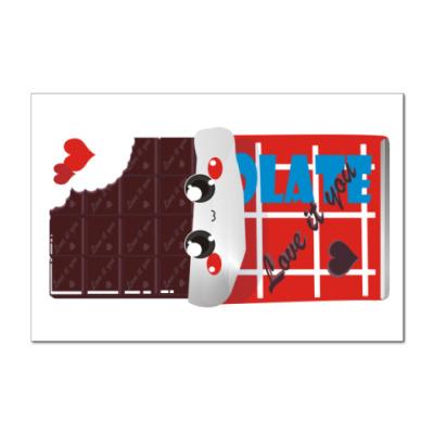 Наклейка (стикер) Шоколад