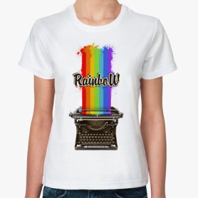 Классическая футболка радуга