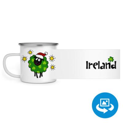 Эмалированная кружка (круговая запечатка) Christmas Ireland