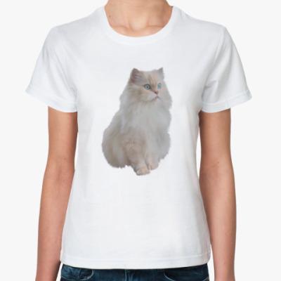 Классическая футболка Snow White Cat