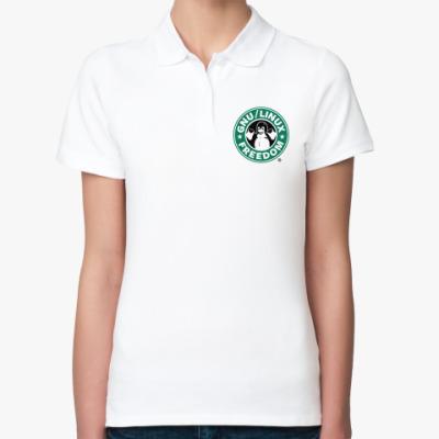 Женская рубашка поло GNU Linux Freedom