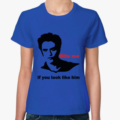 Женская футболка Like him
