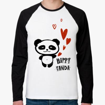 Футболка реглан с длинным рукавом    Happy Panda