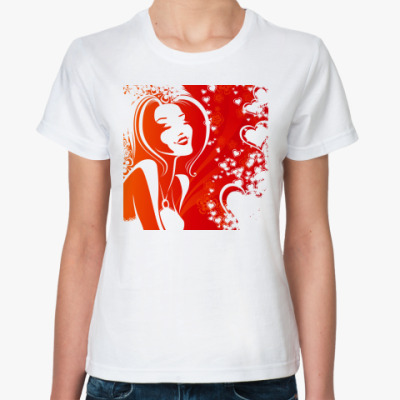 Классическая футболка  'любовь'