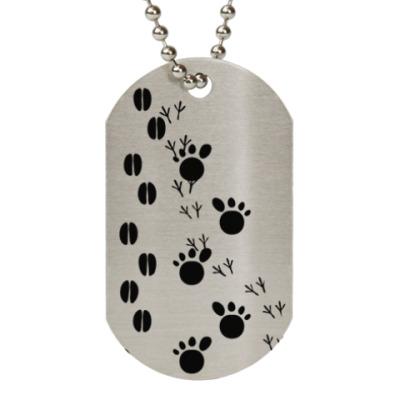Жетон dog-tag Следы