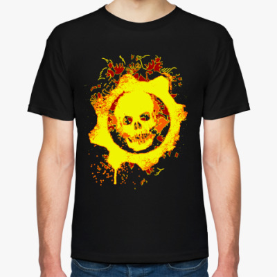 Футболка Samael's Symbols (Огненная черепуха)