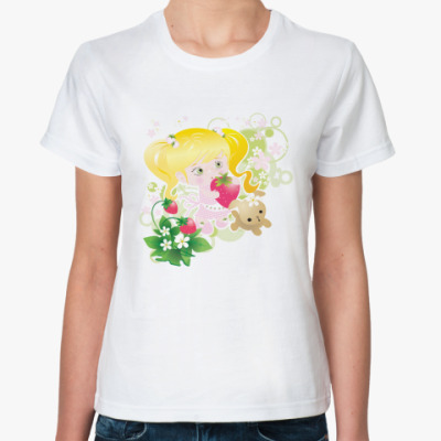 Классическая футболка Клубничка