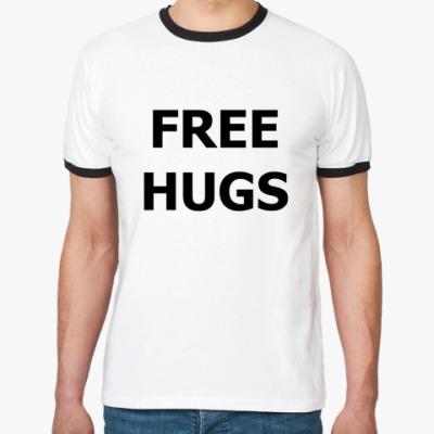 Футболка Ringer-T FREE HUGS